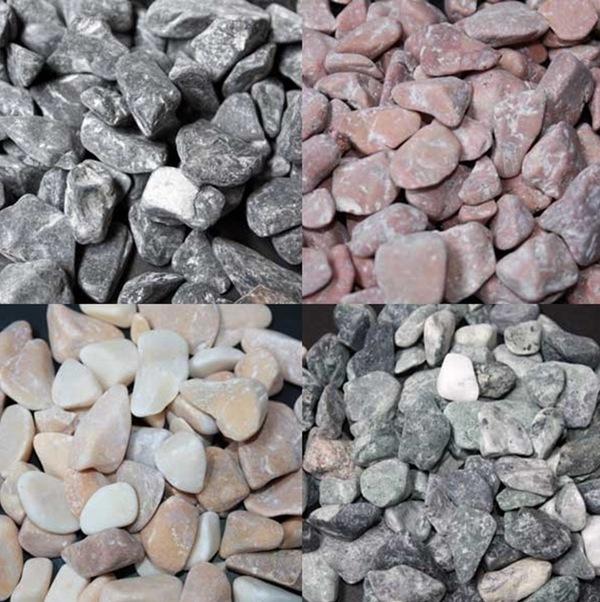 Graviers en marbre