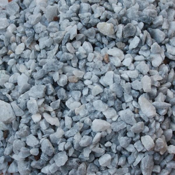 Marbre concassé gris bleu azur
