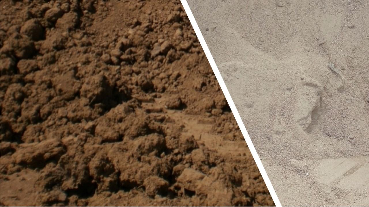 Mélange terre sable